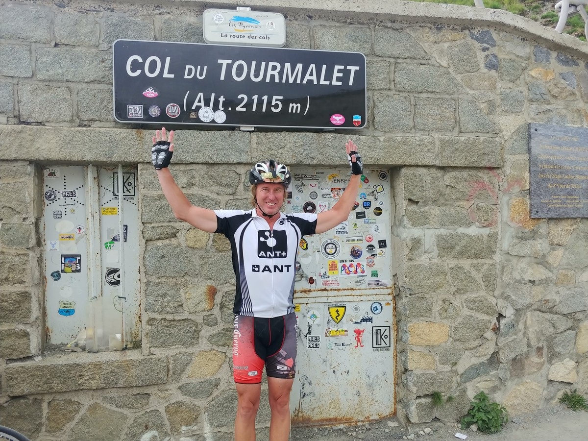 Summit of the Tourmalet while following 2018 TdF in the Pyrenees