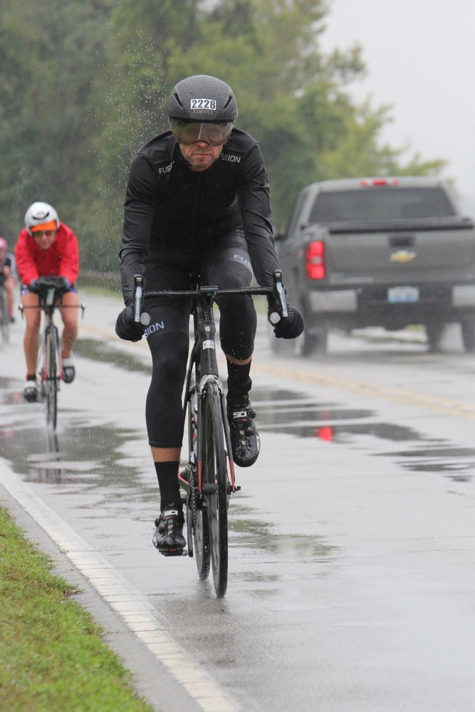 2018 Ironman Louisville, cold, wet and rainy all day made for a miserable race.