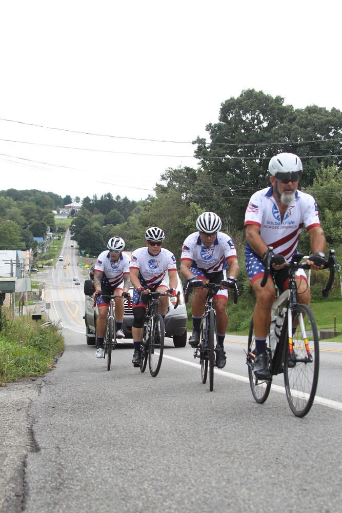 WWP Soliders Ride Across America, Somewhere on the east coast.