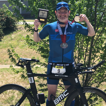 Iron Pig Duathlon.  2nd Place and USAT Silver Medal South Central Regional Championship.